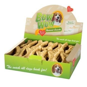 Przysmaki dla psa - Bow Wow Kość naturalna z pestkami winogron 27szt.