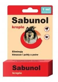 Preparaty lecznicze - Sabunol Krople na pchły i kleszcze dla wielkich psów 6ml