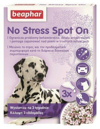 Suplementy - Beaphar No Stress Spot On dla psa 3 pipety