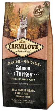 Karmy suche dla psa - Carnilove Salmon & Turkey For Large Breed Puppy