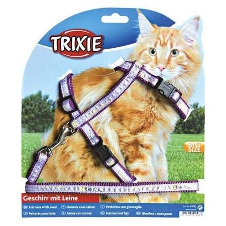 Smycze, obroże, szelki - Trixie szelki dla dużego kota XL