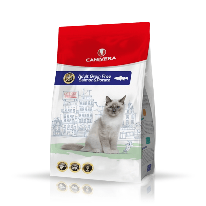 Karmy suche dla kota - Canivera Cat Adult Grain Free Salmon & Potato