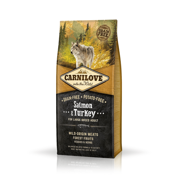 Karmy suche dla psa - Carnilove Salmon & Turkey Large Adult - łosoś i indyk