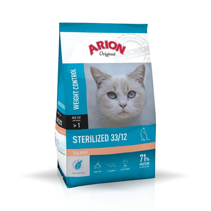 Karmy suche dla kota - Arion Original Cat Sterilized Salmon