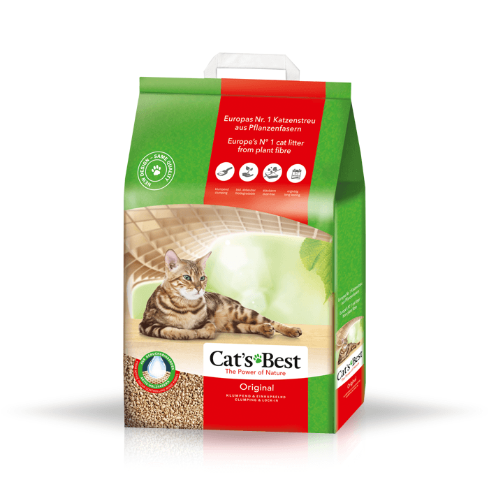 żwirek dla kota - Żwirek Cats Best Eco Plus - Original 40l