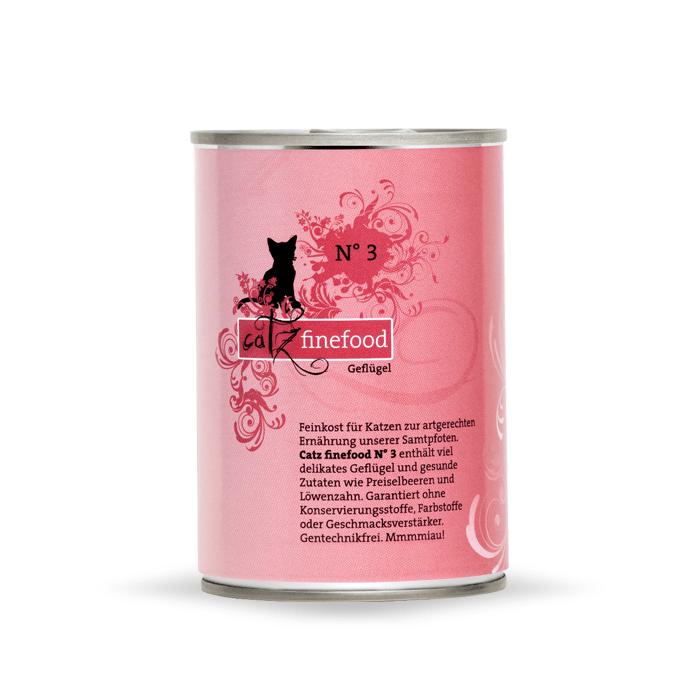 Karmy mokre dla kota - Catz Finefood puszka 400g x 4