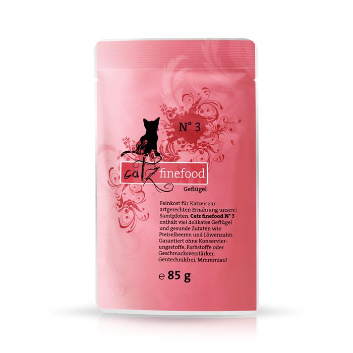 Karmy mokre dla kota - Catz Finefood saszetka 85g x 12