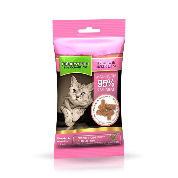 Przysmaki dla kota - Natures Menu przysmak dla kota kurczak wątróbka 60g