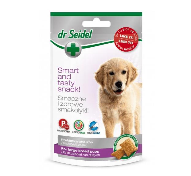 Przysmaki dla psa - Dr Seidel Smakołyki dla szczeniąt dużych ras 90g