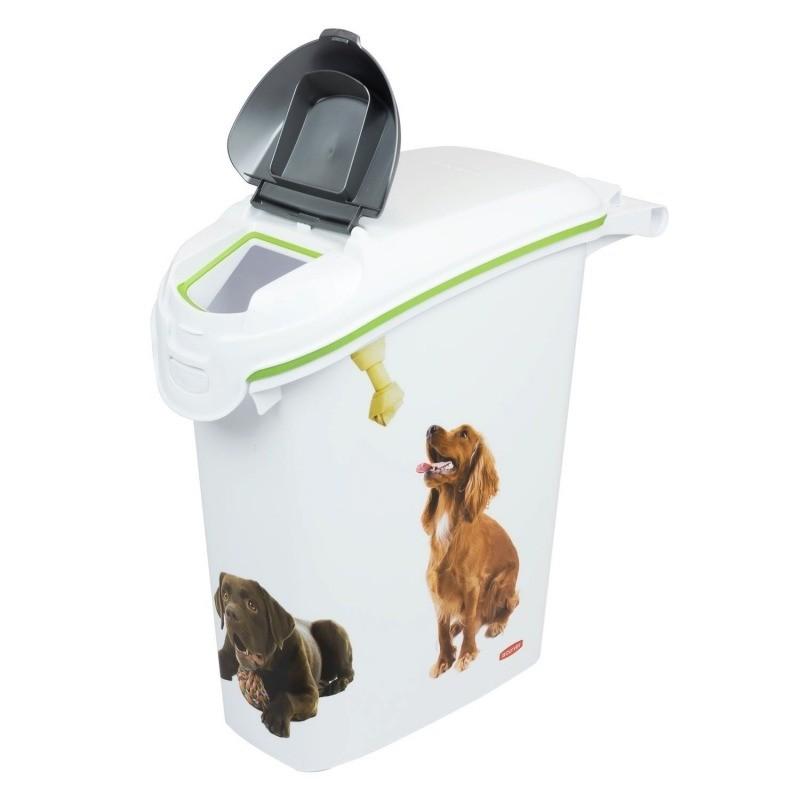 Akcesoria do karmienia - Curver Pet Life pojemnik na karmę z motywem psa 10kg