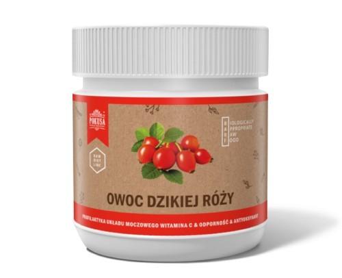 Suplementy - Pokusa RawDietLine Owoc dzikiej róży słoik 200g