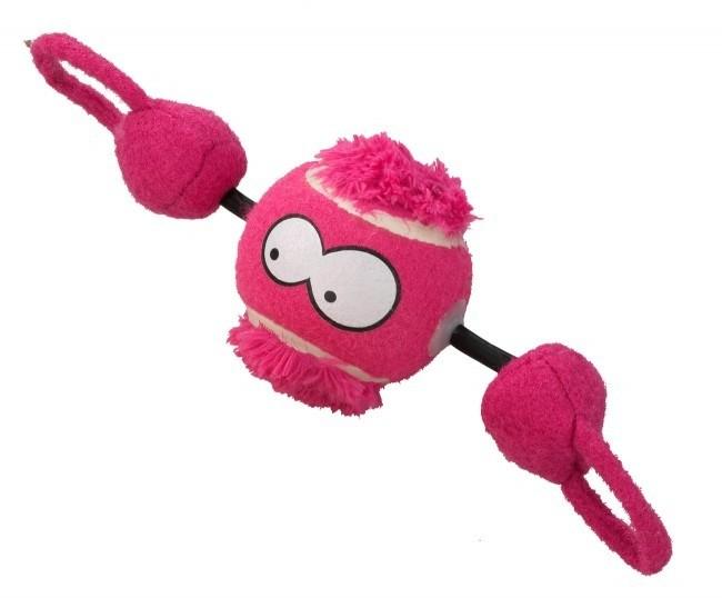 Zabawki - Coockoo Shoot piłka z gumą różowa 7,8cm
