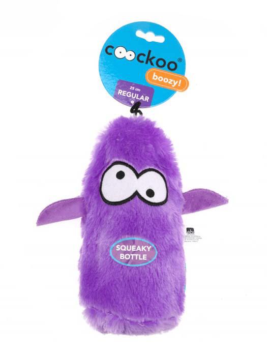 Zabawki - Coockoo Boozy piszcząca zabawka z butelką fioletowa 25 x 10 x 8cm