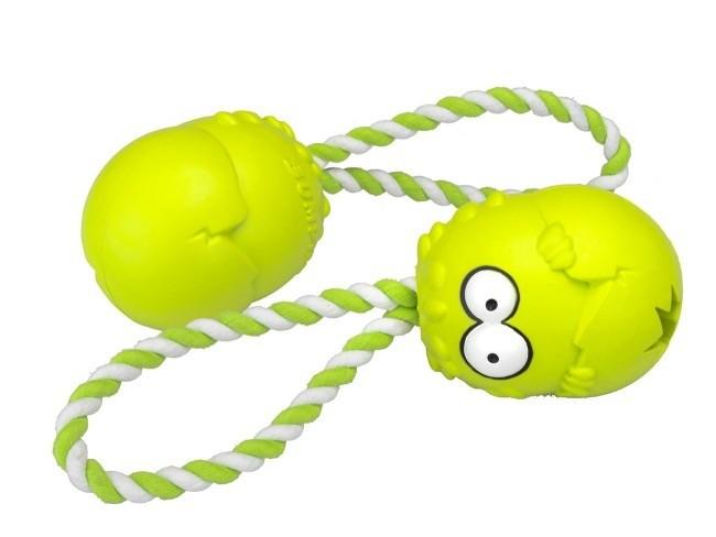 Zabawki - Coockoo Bumpies gryzak na przysmaki zapachowy z liną jabłko