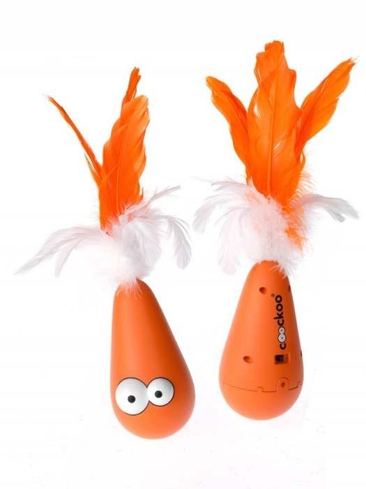 Zabawki - Coockoo Wobble interaktywna zabawka pomarańczowa 12,5 x 6,5cm