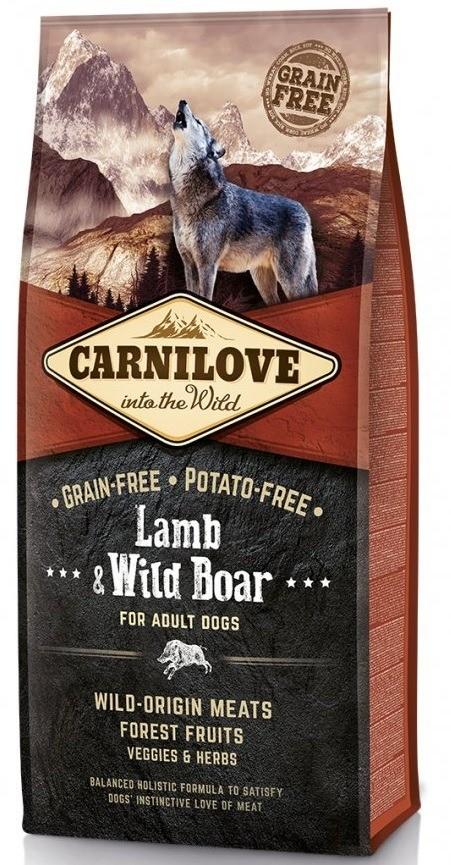 Karmy suche dla psa - Carnilove Lamb & Wild Boar Adult - jagnięcina i dzik