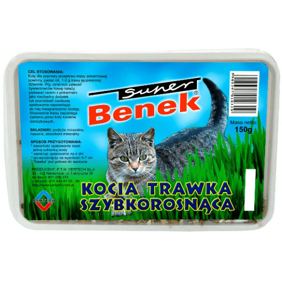 Super Benek trawa dla kota 150g