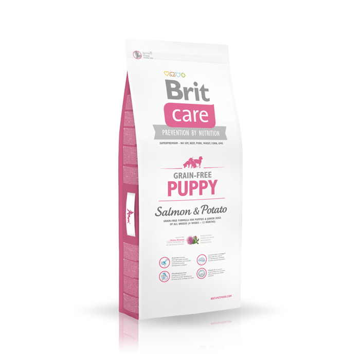 Karmy suche dla psa - Brit Care Grain-free Puppy Salmon & Potato