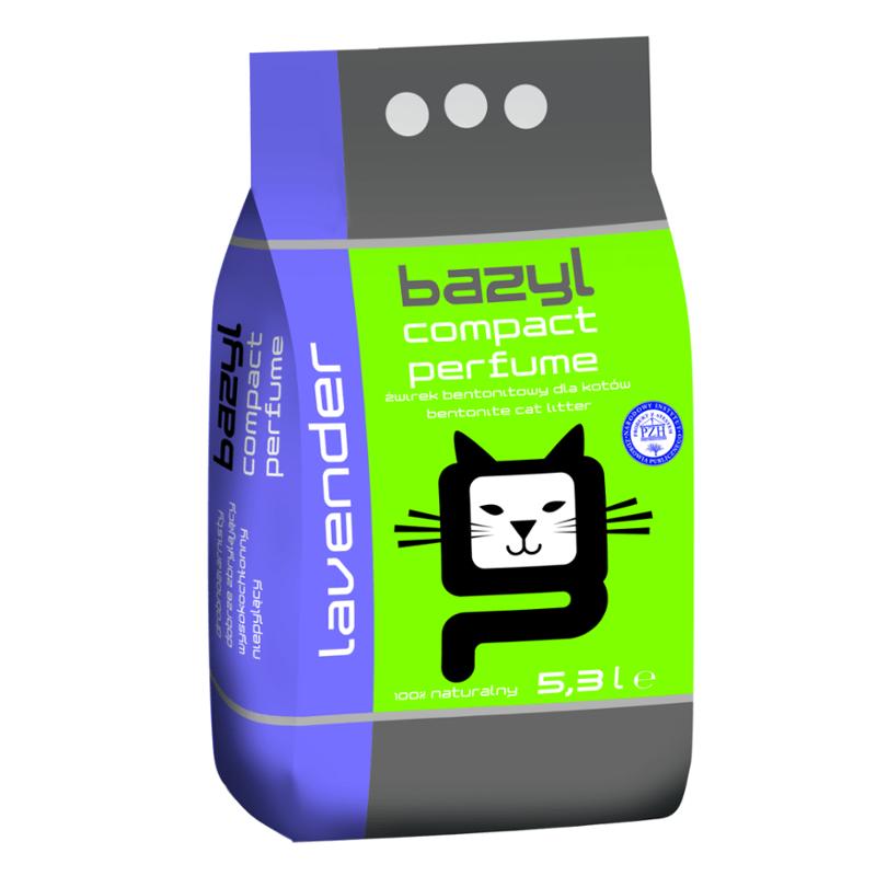 żwirek dla kota - Żwirek Bazyl Compact Lawenda 5,3l