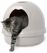 Kuwety, łopatki dla kota - Petmate Kuweta Dome biała 46 x 46 x 42cm