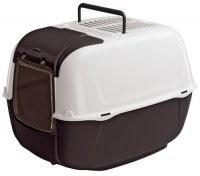 Kuwety, łopatki dla kota - Ferplast Prima Cabrio Toaleta biało-czarna 39,5 x 52,5 x 38cm
