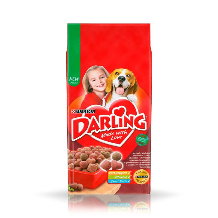 Karmy suche dla psa - Darling z wołowiną i warzywami