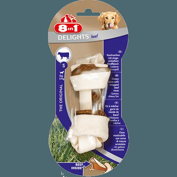 Przysmaki dla psa - 8in1 Beef Delights kość wiązana S