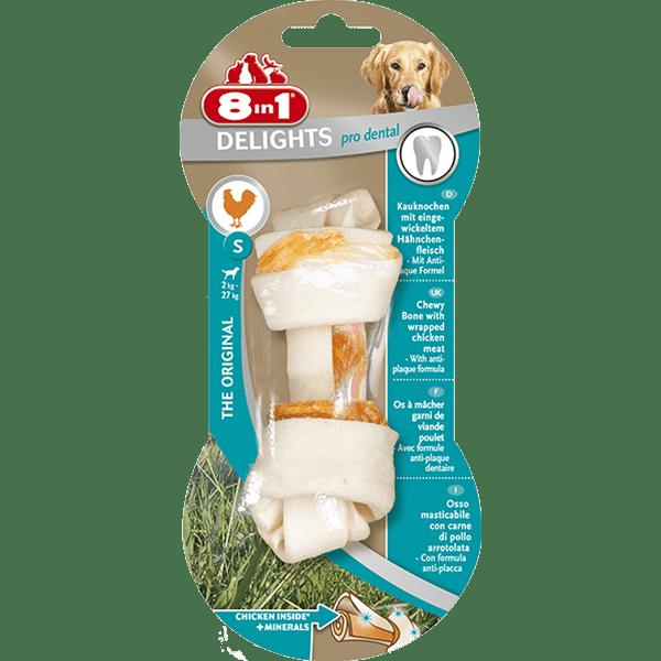 Przysmaki dla psa - 8in1 Dental Delights Bones kość wiązana S
