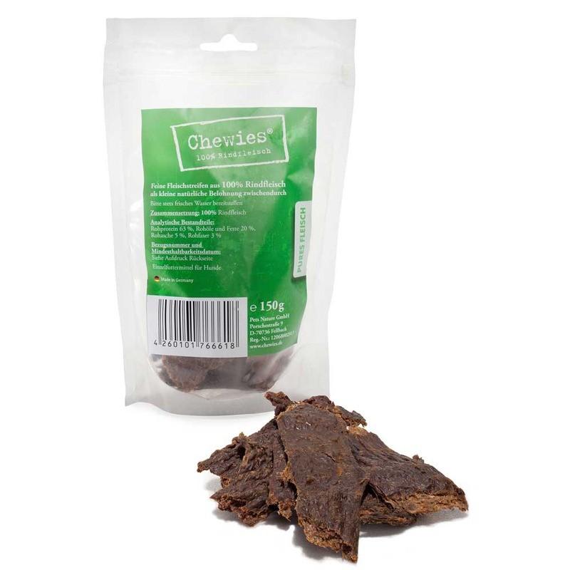 Przysmaki dla psa - Chewies Paski 100% mięsne wołowina 150g