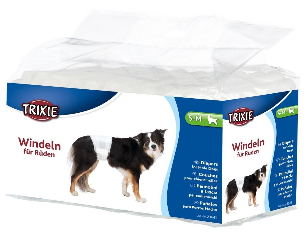 Produkty higieniczne - Trixie Pieluchy dla psów rozmiar S-M 12szt.