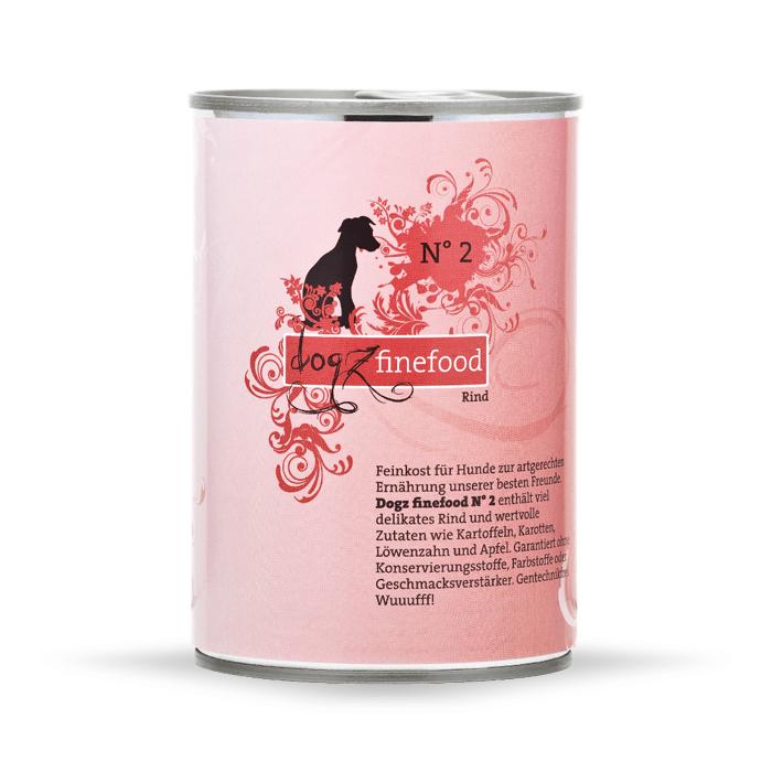 Karmy mokre dla psa - Dogz Finefood puszka 4 x 400g