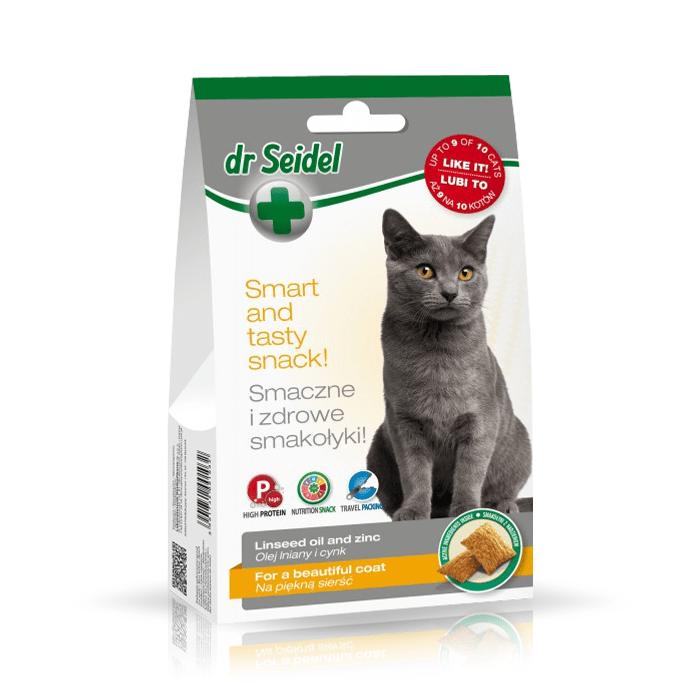 Przysmaki dla kota - Dr Seidel Smakołyki dla kotów na piękną sierść 50g