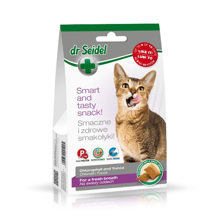 Przysmaki dla kota - Dr Seidel Smakołyki dla kotów na świeży oddech 50g