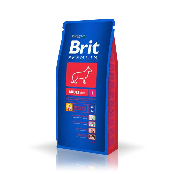 Karmy suche dla psa - Brit Premium Adult Large 8kg