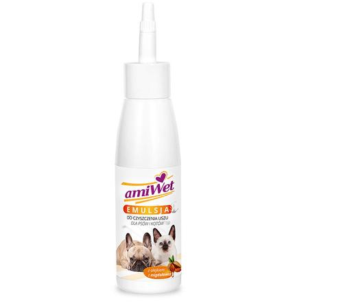 Higiena, pielęgnacja oczu, uszu, zębów - Amiwet Emulsja do czyszczenia uszu 100ml