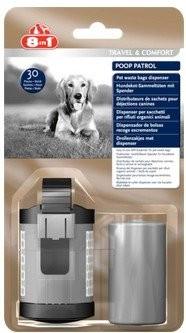 Produkty higieniczne - 8in1 Pojemnik i worki na odchody Poop Patrol Dispenser & Pet Waste Bags