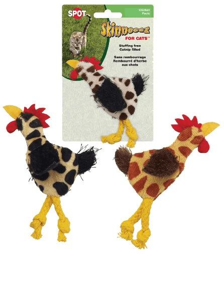Zabawki - Skinneeez Pluszowy kurczak dla kota