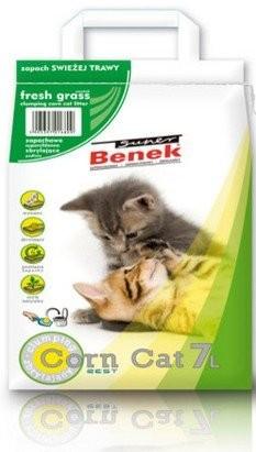 żwirek dla kota - Żwirek Super Benek Corn Cat świeża trawa 25l