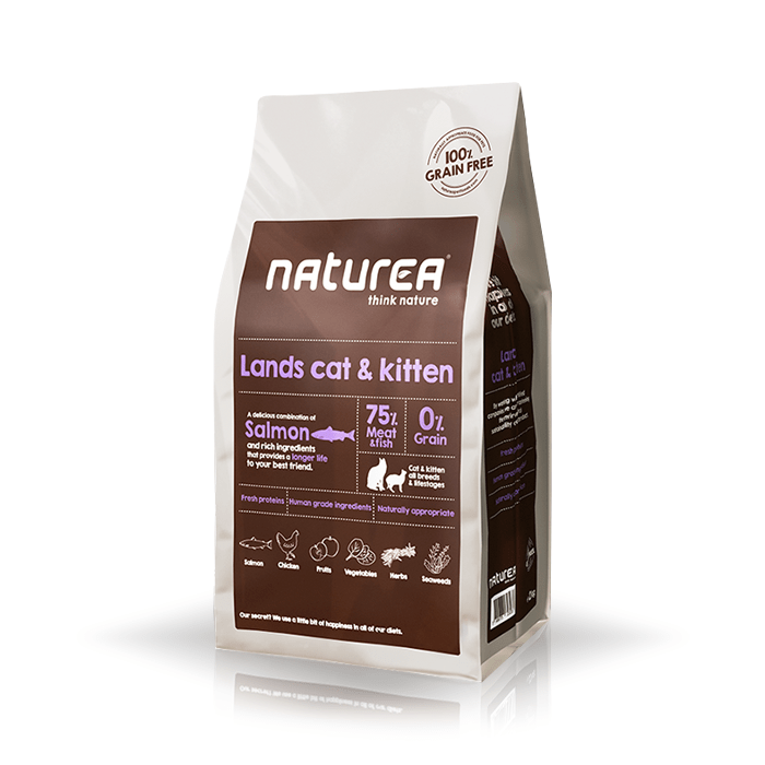 Karmy suche dla kota - Naturea Lands Cat & Kitten 7kg