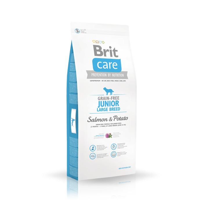 Karmy suche dla psa - Brit Care Grain-free Junior Large Breed Salmon & Potato