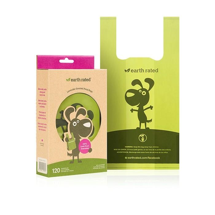 Produkty higieniczne - Earth Rated Reklamówki Lawendowe 120szt.