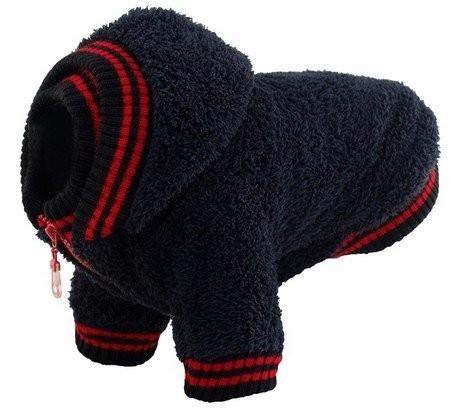 Ubranka dla psa - Grande Finale Bluza czarna na zamek