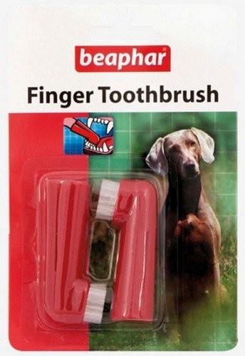 Higiena, pielęgnacja oczu, uszu, zębów - Beaphar Szczoteczka do zębów naparstkowa