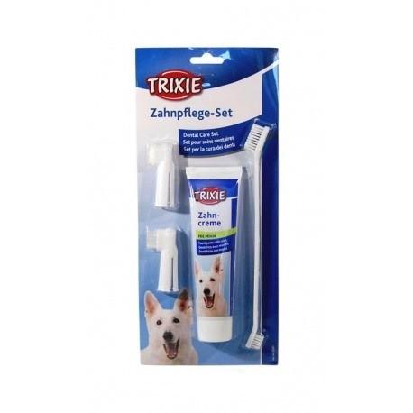 Higiena, pielęgnacja oczu, uszu, zębów - Trixie Zestaw do czyszczenia zębów
