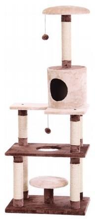 Drapaki, tunele dla kota - Yarro Drapak Rufus beż-brąz 60x40x147cm
