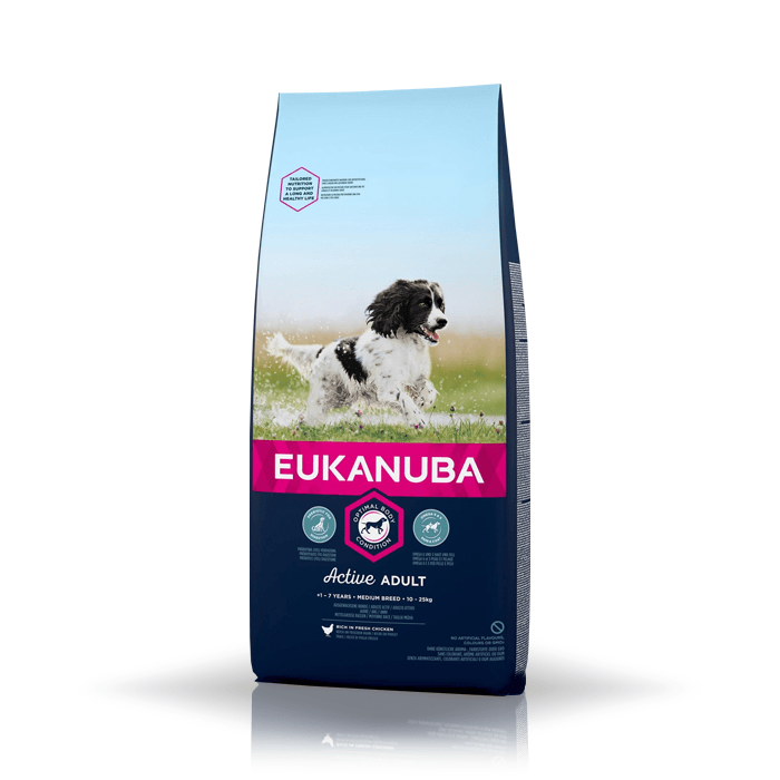 Karmy suche dla psa - Eukanuba Active Adult Medium Breed