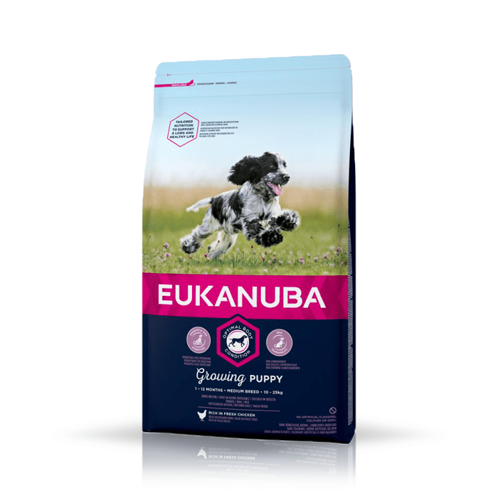Karmy suche dla psa - Eukanuba Puppy & Junior Medium Breed