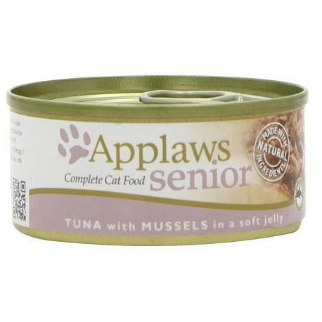 Karmy mokre dla kota - Applaws Cat Senior puszka tuńczyk i małże 70g