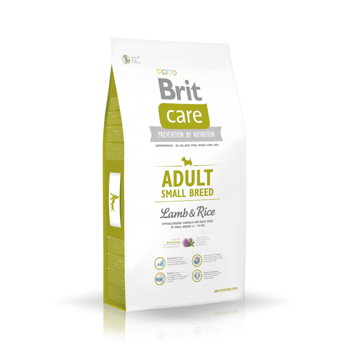 Karmy suche dla psa - Brit Care Adult Small Breed Lamb & Rice