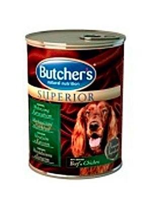 Karmy mokre dla psa - Butchers Superior wołowina kurczak 6x400g
